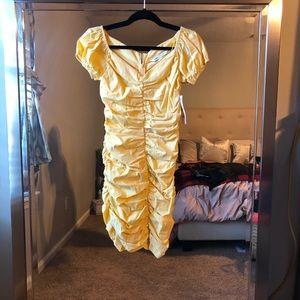 NWT Zara Ruched Mini Dress